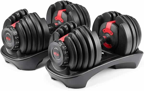 Two Adjustable Dumbbells