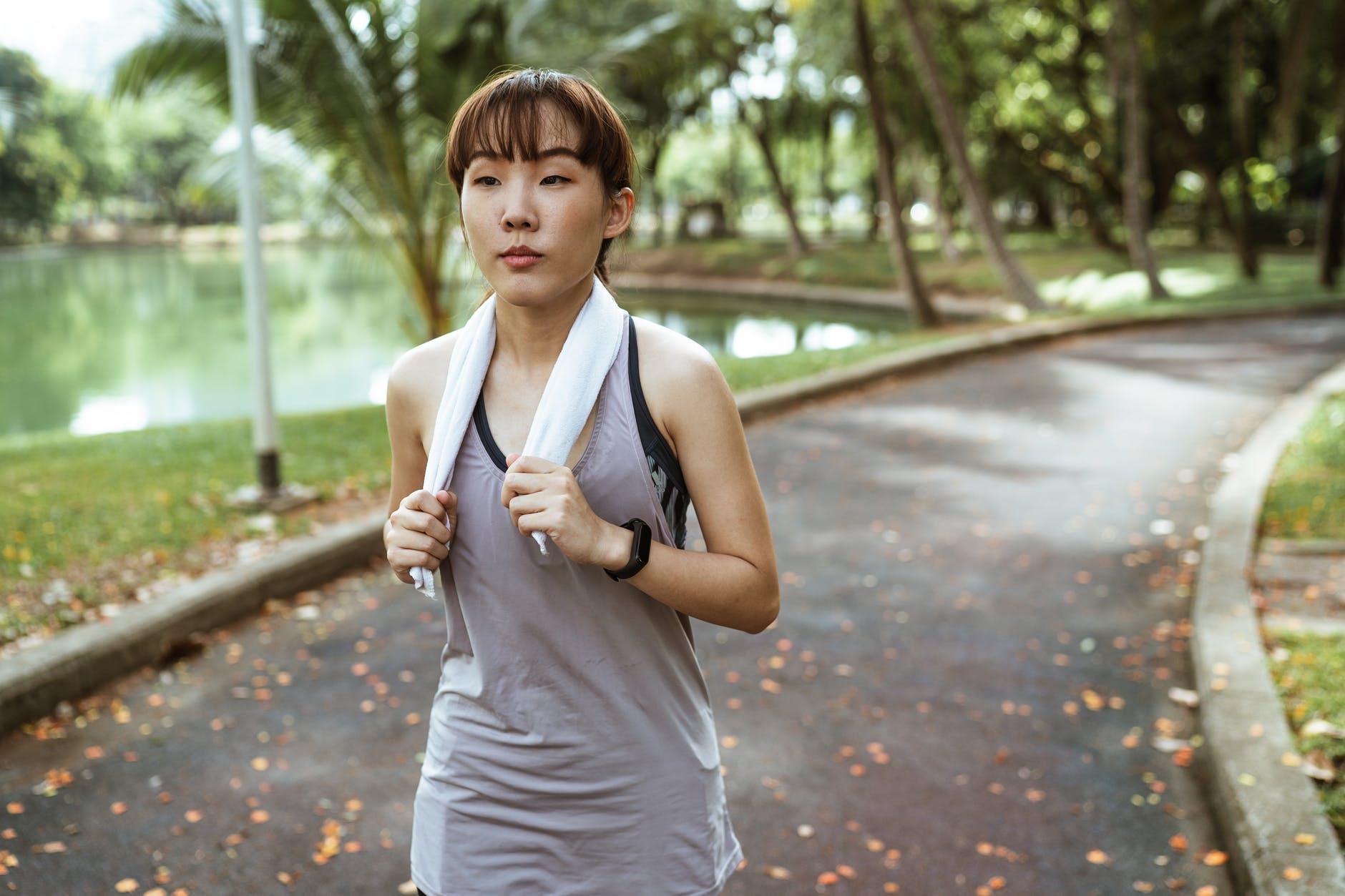 Training Running In Park
